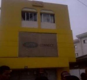 Photos: Angry Mob Stones And Destroys MTN Office In Owerri